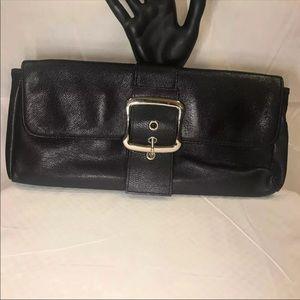 Handbags - Black 100% Leather Clutch